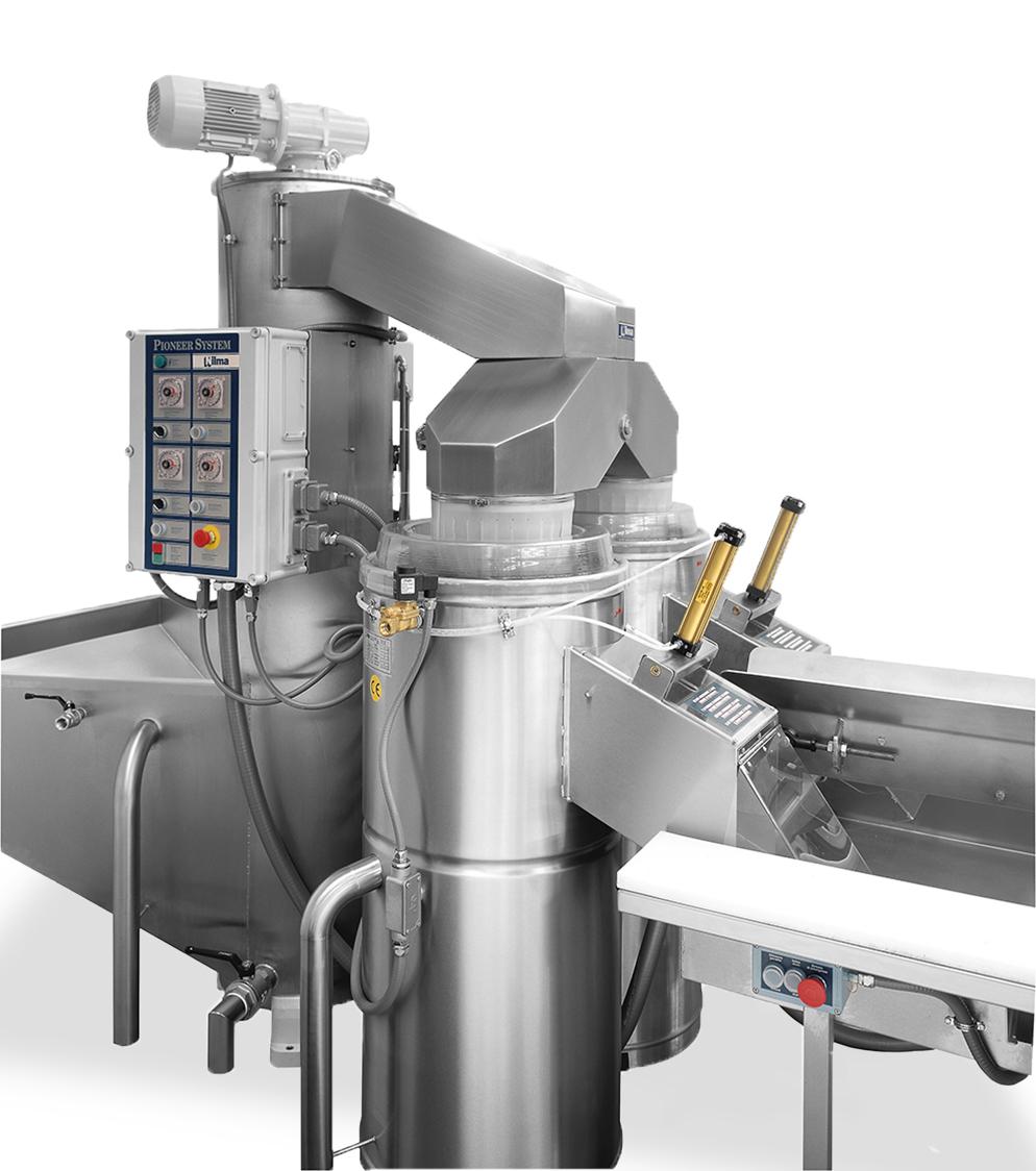 PIONEER SYSTEM BIDIREZIONALE - Linea automatica di pelatura patate
