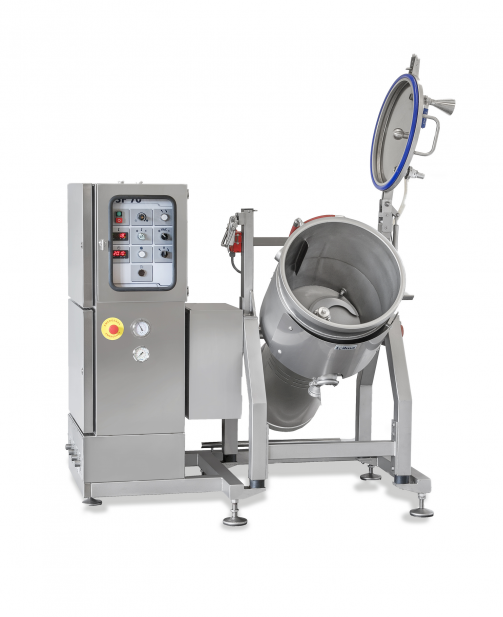 SPEEDY CUTTER DSF - HEATED VERTICAL FOOD CUTTER WITH VACUUM Nilma