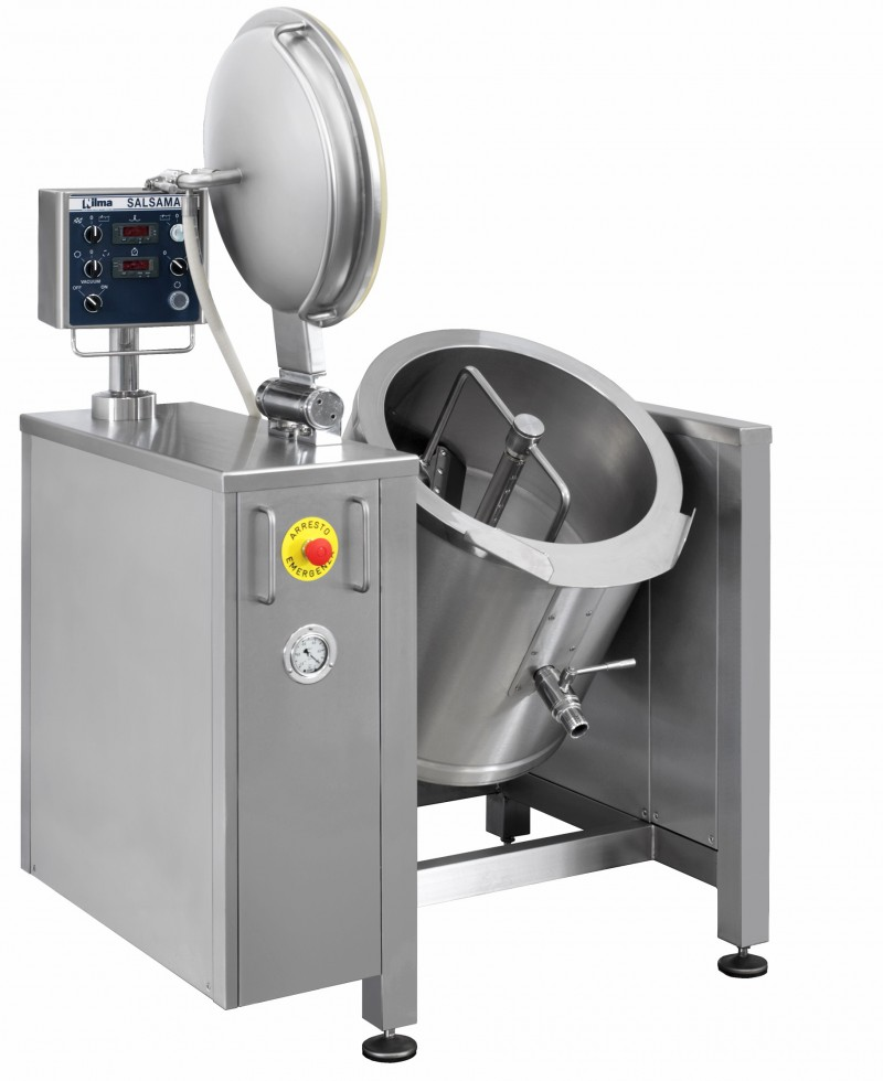 Nilma | Salsamat SV - Tilting Vacuum Braising Pan with Mixer - Industrial & Catering Equipment for Cooking Food