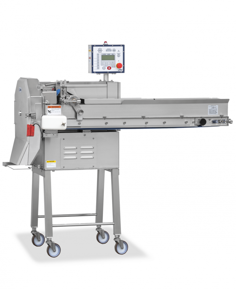 Nilma   TVN 202 - Continuous Cutter with Conveyor Belt - Industrial & Catering Equipment for Food Preparation