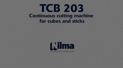 TCB 203, Taglierina a ciclo continuo per cubetti e strisce