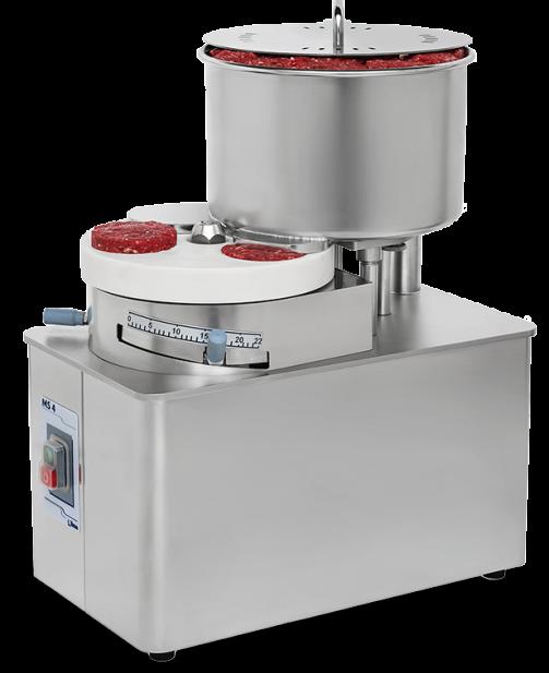 MS 4 Inox- formadora automática de hamburguesas y albóndigas Nilma